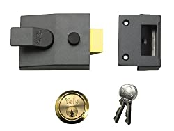 Yale Locks P89 Deadlock Nightlatch DMG Brass Cylinder 60 mm Backset Visi Pack