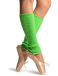 Neon Green Dance/Ballet Leg or Arm Warmers - Leg Warmers - Verde Calentadores moda Talla unica (37 cm)