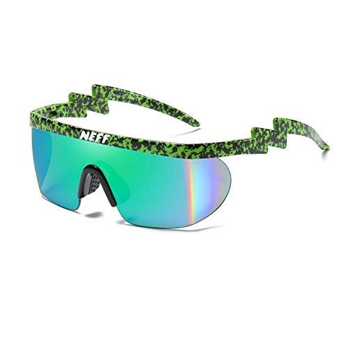CRAVEN Neff Sonnenbrille Männer Frauen Vintage Sport Übergroße Brille Clip On Shades UV40 Schutz Sonnenbrille Lentes De Sol Mujer, C8, mit Etui