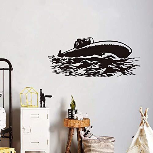 wukongsun Große Marine U-Boot militärische Silhouette Wandaufkleber Wohnzimmer abnehmbare Vinyl Wandtattoo Dekoration 181cmx77cm