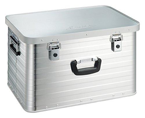 Enders Alubox 63 Liter + Schloss Set, hochwertig verarbeitet, mit Moosgummidichtung, Alukiste flexibel verwendbar als Transportbox und Lagerbox - Alukoffer Lagerkisten Metallkiste Metallbox Aluboxen Alukisten