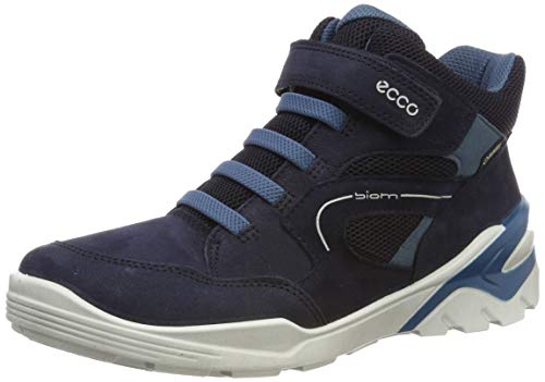 ECCO Boys' Biom Vojage Hi-Top Trainers, Blue (Night Sky/Indian Teal 51296), 7 UK