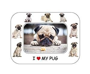 Chien, Carlin (Pug) - Magnifique cadeau 20 x 15 cm-Cadre Photo magnétique-Aimant de réfrigérateur