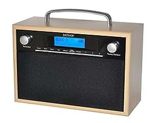 Denver 12216340 DAB + Radio numérique avec tuner intégré FM et réveil