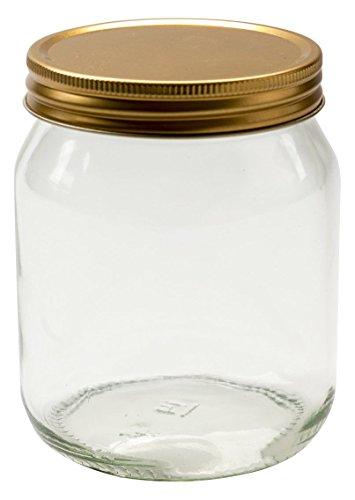 Nutley 's 454ml rund Glas Honig Jar (12-teilig)