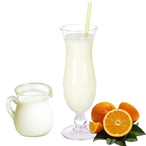 Buttermilch Orange Geschmack Eiweißpulver Milch Proteinpulver Whey Protein Eiweiß L-Carnitin angereichert Eiweißkonzentrat für Proteinshakes Eiweißshakes Aspartamfrei (1 kg)