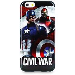 Disney DISCA0001 - Funda TPU, diseño Capitán América Iron Man compatible con Apple iPhone 6/6S