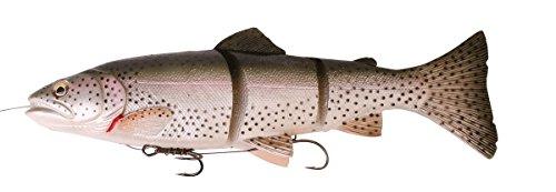 Savage Gear 3D Line Thru Trout Gummifisch Forelle, Kunstköder für Hecht, Zander, Waller, Angelköder zum Spinnfischen und Schleppangeln, Hechtköder, Zanderköder, Wallerköder, Welsköder, Forellenköder, Gummiforelle, Gummiköder, Farbe:Rainbow Trout;Länge / Gewicht /Schwimmverhalten:20cm / 98g/ moderat sinkend