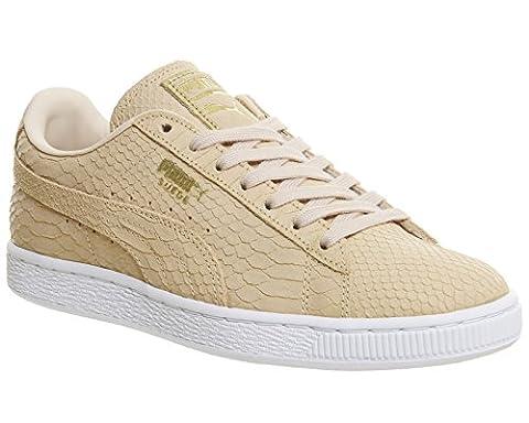 Puma Suede Classic, Baskets basses mixte adulte - blanc cassé - Natural Vachetta Exotic,