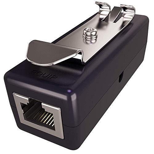 Ethernet Überspannungsschutz (DIN Montage) PoE+ Gigabit GDT für Überstrom Schutz (Blitzschutz RJ45 Protektoren) LAN Netzwerk Kabel Blitzableiter GbE Ethernet Surge Protector Tupavco TP309