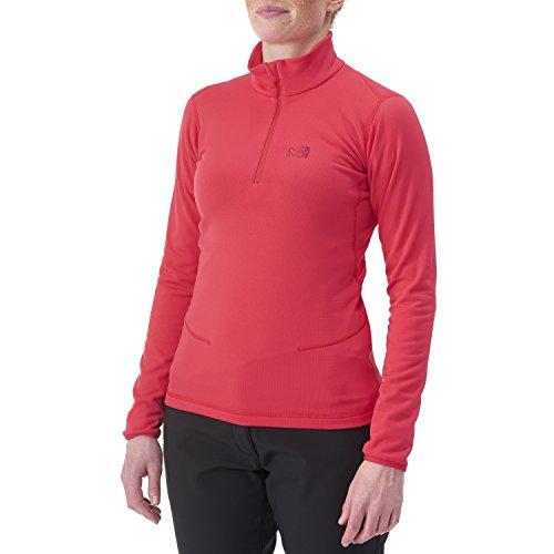 Millet Miv46685596_5596_XS Camiseta Cuello Alto Manga Larga, Mujer, Rojo