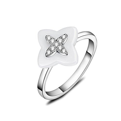 barbie, anello da ragazza e donna, anello in argento e oro rosa, anello moda , anello di squisita fattura #BSJZ069 (Placcato argento, diametro 18.15mm)
