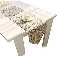 carta de lino retro rectángulo de mesas de comedor equipos de Mesa 30x180cm Decoración de la mesa 11.8x70.8 pulgadas