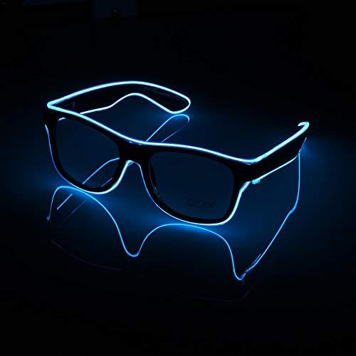 LED Brille, Mode Neon Kaltlicht Sonnenbrille Für Tanzparty Bar Treffen Glow Rave Kostüm Atmosphäre Aktiviert