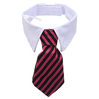 Adjustable Striped Bow Tie Collar Neck Tie For Pet Dog Cat (Style 3) 41Y4aZ4t5bL