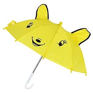 SODIAL(R) Mini Parapluie de forme de panda Jaune pour les enfants