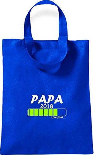 ShirtInStyle kleine Baumwolltasche PAPA 2018 Loading Geburt Geschenk Royal