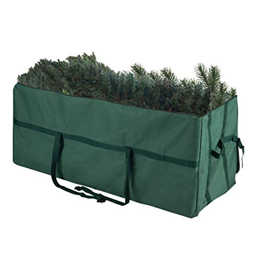 Elf Stor 83-DT5030 Heavy Duty Canvas Christmas Storage Bag Large for 9 Foot Tree, Non-Rolling, Green