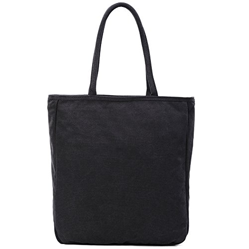 Vento verticale semplice puro cotone canvas bag Tote/Borsa a tracolla-C C