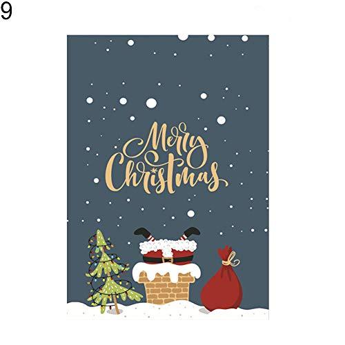 (Nordira 30x45cm Weihnachten Weihnachtsmann Schneemann Winddicht Garten Flagge Hof Banner Dekor - 9#)