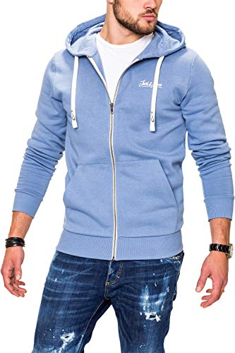 JACK & JONES Herren Sweatjacke Hoodie Kapuzenjacke Sweatshirt Kapuzenpullover (XXX-Large, Infinity) Hoody Herren Casual-sweatshirts