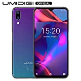 UMIDIGI One Max Flaggschiff Qi Smartphone ohne Vertrag Android 8.1 Oreo 4GB + 128GB 6.3 Zoll Handy 19:9 Waterdrop Full Screen, Dual SIM, Globale Version, Induktion Laden, NFC, 16MP Kamera - Twilight