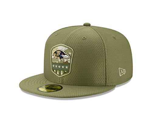 New Era Baltimore Ravens 59fifty Basecap On Field 2019 Salute to Service Olive - 7 3/4-62cm (Ravens Xxl Cap)