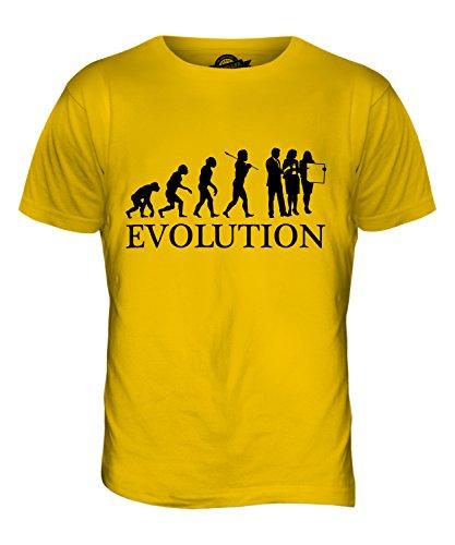 CandyMix Unternehmer Unternehmertum Evolution Des Menschen Herren T Shirt Dunkelgelb