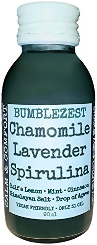 Bumblezest Calm & Comfort Chamomile Lavender Spirulina Drink 90ml (Pack of 6)