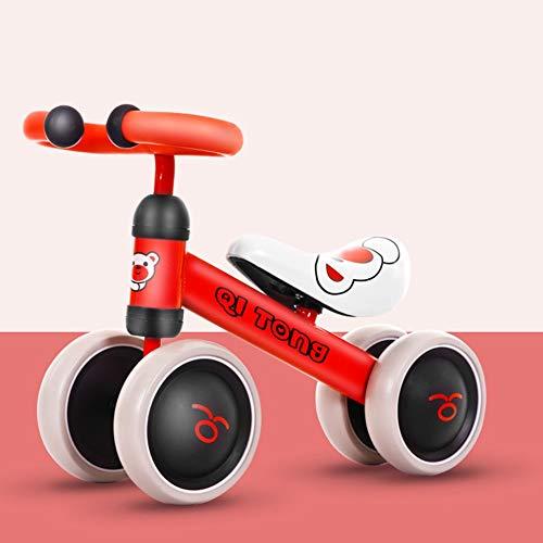 Baby-Laufräder, kein Pedal-Four Wheel Sport Stabiles Gleichgewicht Fahrrad-Reiten Spielzeug Micro Mini Scooter Infant EVA Anti-Rutsch-4 Räder Fahrrad-Wanderer für 1-2 Jahre alt (Mag Wheels Fahrrad)
