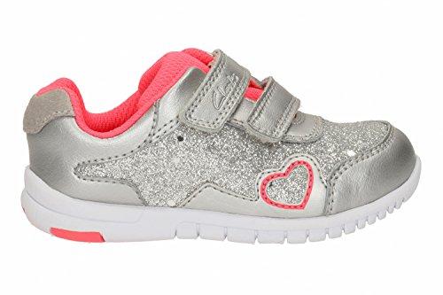 Clarks Chaussures occasionnelles de filles TVF azon labyrinthe en différentes couleurs Argenté métallique