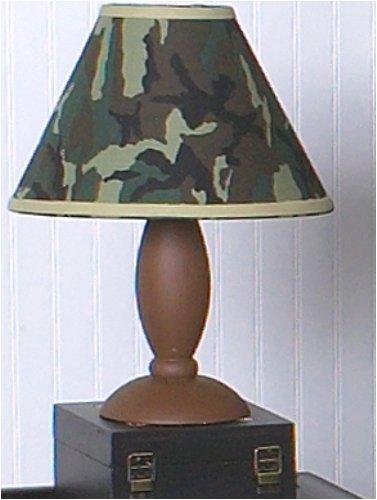 Sweet Jojo Designs Sweet Jojo Designs Lamp Shade Green Camo Army Military Camouflage