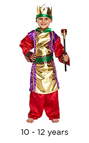 KOSTÜM KINDER KING GROß 10-12 JAHRE (King Tut Kostüm Kind)