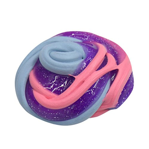 Slime Spielzeug Forh Bunte Fluffy Floam Weich Slime Duft Stress Relief Spielzeug Kein Borax Spielzeug Kinder DekompressionSpielzeuge (D)