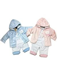 Gorgeous Padded 3 Piece Set By Pitter Patter - Pink Size Newborn