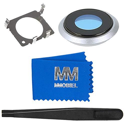 MMOBIEL Rück Back Glas Kamera Linse Cover für Hauptkamera kompatibel mit iPhone 8-4.7 Inch (Silber) inkl. Halterung und Pinzette