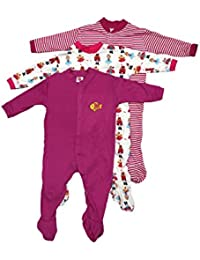 71ef2f5aab1d Mini Berry Cotton Baby Boy Rompers in Purple Color for 3-6 Months -Combo