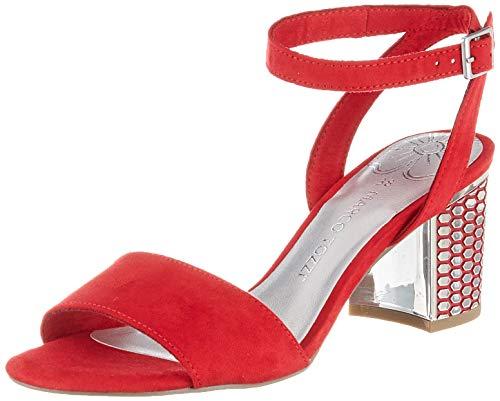 MARCO TOZZI 2-2-28311-22, Sandali con Cinturino alla Caviglia Donna, Rosso (Red 500), 41 EU