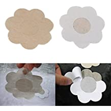 chengyida 25 pares flor adhesivo pezón cubiertas almohadillas cuerpo pecho pegatinas desechables leche pasta de vaciar