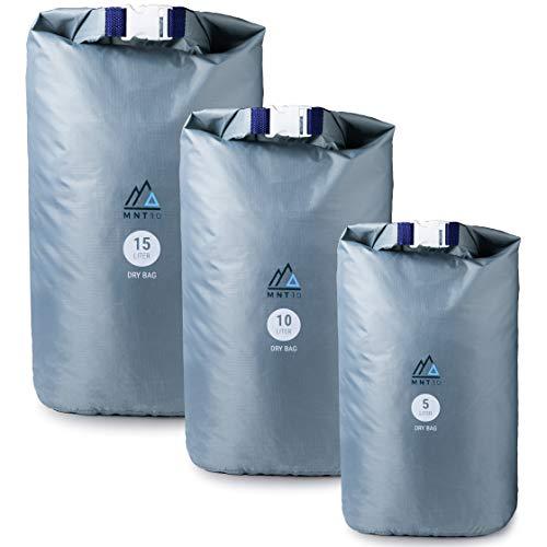 MNT10 Dry Bag Ultra-Light I Packsack in 5l, 10l, 15l I Wasserfeste Tasche Ultra-Light für Reisen und Outdoor I Trockenbeutel leicht & widerstandsfähig (15 Liter)