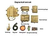 RIRUI Hundeweste, Taktischer Hundewestenanzug, 1000D Amerikanisches Standardnylongewebe, Kratzfest, VerschleißFest, KäLtebestäNdig,Yellow,S