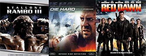 Ultimate Blu-ray Action Three Pack - Red Dawn (2012), Die Hard With a Vengeance & Rambo III 3-Movie Bundle