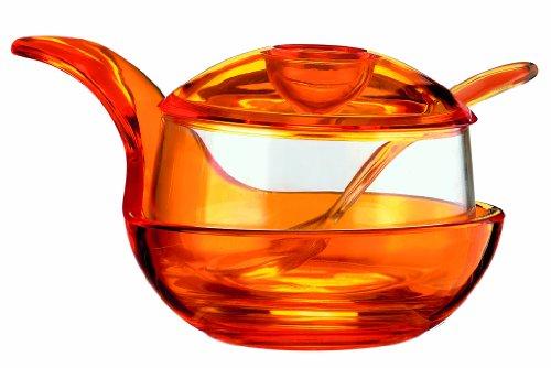 Guzzini formaggera happy hour, arancione chiaro, 12 x 9.5 x h16.5 cm