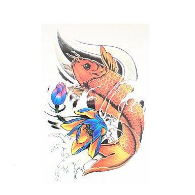HJLWST® 8pcs corpo trasferimento dell'acqua in vita l'arte autoadesivo provvisorio del tatuaggio donne uomini pesce (Diamante Dell'elefante Collana)