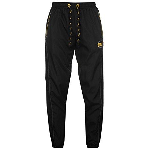 Everlast-Woven Pantaloni da jogging Pantaloni Pantaloni sportivi Activewear Black/yellow L
