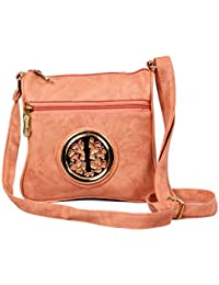 LIFZA Attracitve Textured Faux Leather Casual Sling Bag For Women / Girls