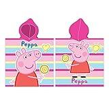 Oeko-Tex Poncho Peppa Pig Toalla - Capa de Baño Peppa Pig con Capucha
