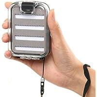 Espacio Grande Portable Impermeable Caja De Pesca Con Mosca Doble Tapa Transparente Caja De Pesca (Doble cara)