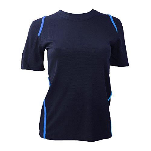 Gamegear Cooltex - T-shirt - Femme Noir/Orange fluorescent