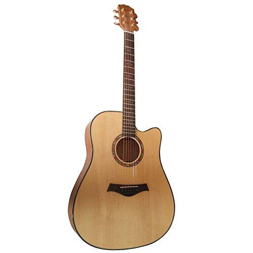 HONSING® 41 pulgadas guitarra acústica / corte de caoba barril cara lateral inferior del abeto importaciones coreanas de cadena HS-4113CS-NT (Color madera)